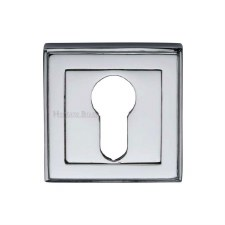 Heritage DEC7020 Square Euro Escutcheon Polished Chrome