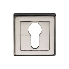 Heritage DEC7020 Square Euro Escutcheon Polished Nickel