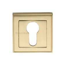 Heritage DEC7020 Square Euro Escutcheon Satin Brass Lacquered