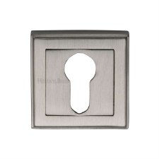 Heritage DEC7020 Square Euro Escutcheon Satin Nickel