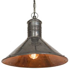 Deck Ceiling Pendant Lamp Antique Brass