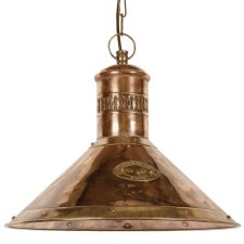 Deck Ceiling Pendant Lamp Light Antique Brass