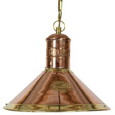 Deck Ceiling Pendant Lamp Polished Brass