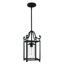 Feiss Declaration Mini Pendant Light Antique Forged Iron