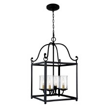 Feiss Declaration Pendant 4 Light Antique Forged Iron