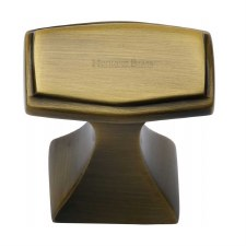 Heritage Deco Design Cabinet Knob C0333 32 Antique Brass