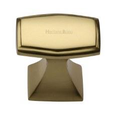 Heritage Deco Design Cabinet Knob C0333 32 Polished Brass