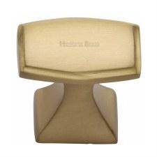 Heritage Deco Design Cabinet Knob C0333 32 Satin Brass