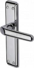 Heritage Deco Latch Door Handles DEC3010 Polished Chrome