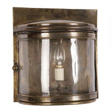 Deco Large Flush Wall Light, Light Antique Brass