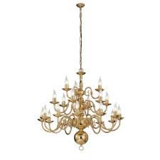 Flemish Chandelier Light 21 Lights Polished Brass