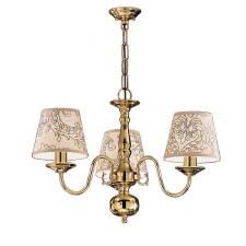 Flemish Chandelier Light 3 Lights Polished Brass