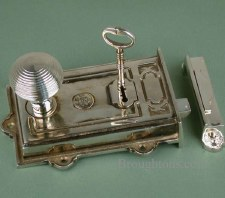 Davenport Rim Lock Antique Nickel