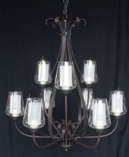 Devan 9 Light Ceiling Pendant in Dark Bronze
