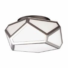 Feiss Diamond Flush Light Polished Nickel