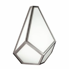 Feiss Diamond Wall Light Polished Nickel