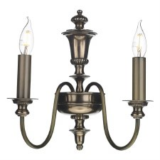 David Hunt DIC0963 Dickens Double Wall Light Bronze