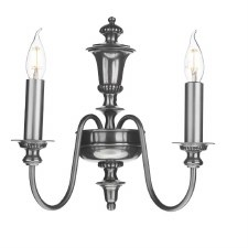 David Hunt DIC0967 Dickens Double Wall Light Pewter