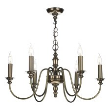 David Hunt DIC0663 Dickens 6 Light Pendant Bronze
