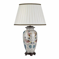 Elstead Ping Oriental Table Lamp with Shade