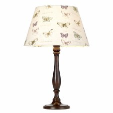 Elstead Painswick Table Lamp Large Walnut with Shade