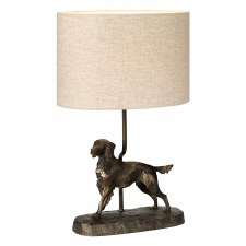Elstead Rufus Dog Table Lamp with Shade