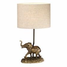 Elstead Sabi Elephant Table Lamp with Shade