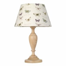 Elstead Woodstock Table Lamp Large Limed with Shade