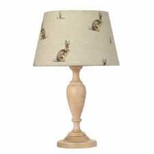 Elstead Woodstock Table Lamp Small Limed with Shade