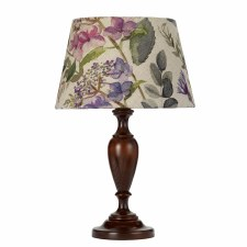 Elstead Woodstock Table Lamp Small Walnut with Shade