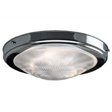 Prismatic Flush Dome Ceiling Light Chrome