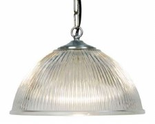 Dome Ceiling Pendant Light Medium Chrome