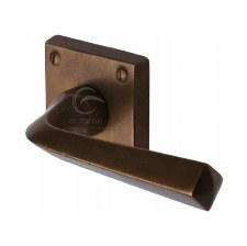 Heritage Donnington Door Handle RBL1953 Solid Rustic Bronze
