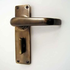 Bathroom Door Handles Antique Brass Unlacquered