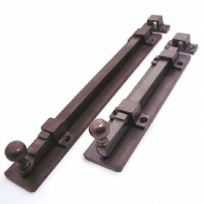 Door Bolt 203mm Solid Rustic Bronze