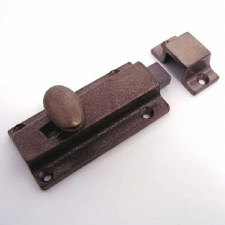 Door Bolt 75mm Solid Rustic Bronze