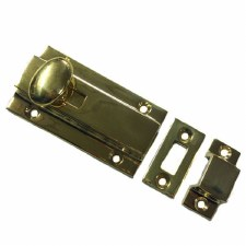 Aston Door Bolt 75mm Polished Brass Unlacquered