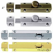 "Modern Door Bolt 4"" Antique Brass"