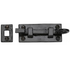 Heritage Tudor Door Bolt Necked TC159 76mm Black Ironwork