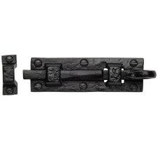 Heritage Tudor Door Bolt Straight TC158 76mm Black Ironwork