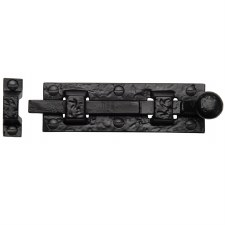 Heritage Tudor Door Bolt Straight TC168 102mm Black Ironwork