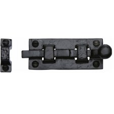 Heritage Tudor Door Bolt Straight TC168 76mm Black Ironwork
