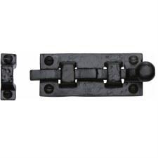 Heritage Tudor Door Bolt Straight TC168 76mm Black Ironwork