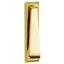 Croft Slim Door Knocker 1750 Polished Brass Unlacquered