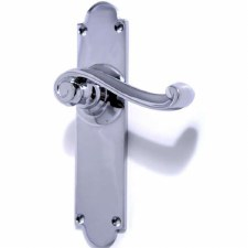 Aston Victorian Scroll Door Handles Polished Chrome