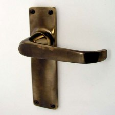 Aston Door Handles Antique Brass Unlacquered