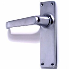 Victorian Plain Door Handles Satin Chrome
