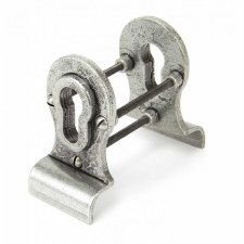 From The Anvil Euro Door Pull Back To Back Fixings Pewter