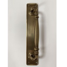 Aston Door Pull Handle 305mm Antique Brass Unlacquered