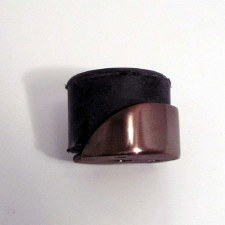Aston Hooded Door Stop Polished Solid Bronze Antiqued